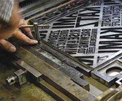 新聞紙×活版印刷